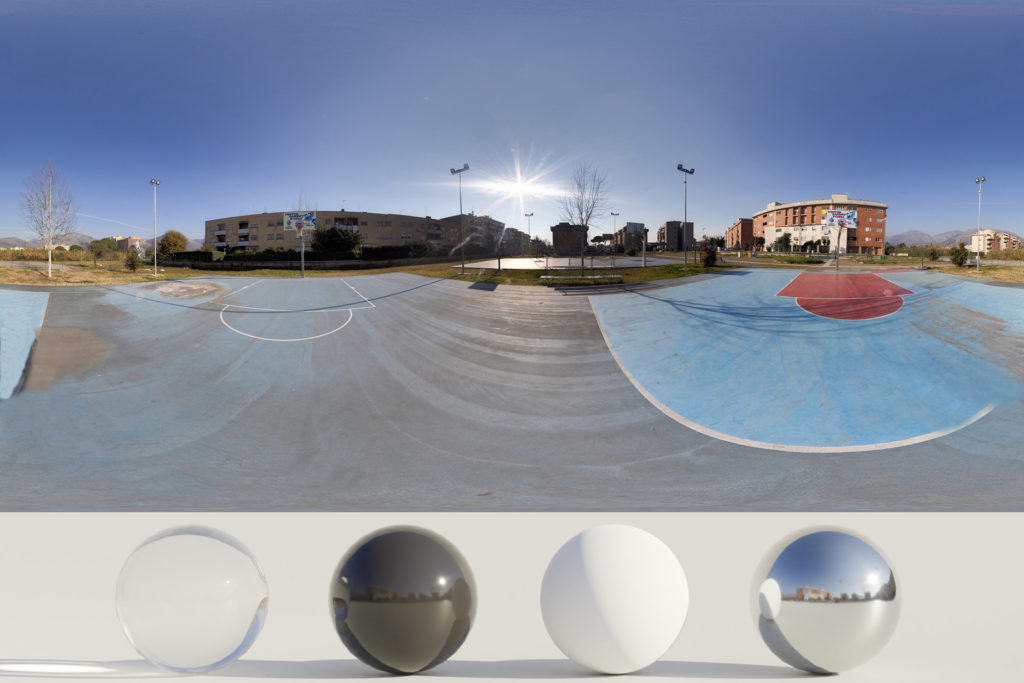 Download an Awesome HDRi Basket and buildings