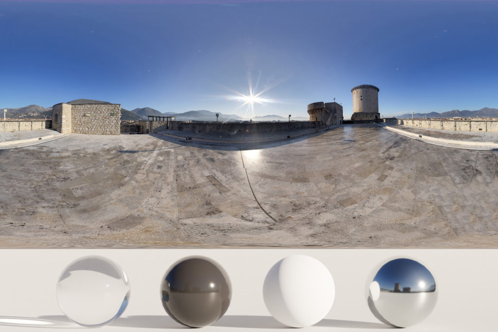 HDRi – Castle, sky and mountains