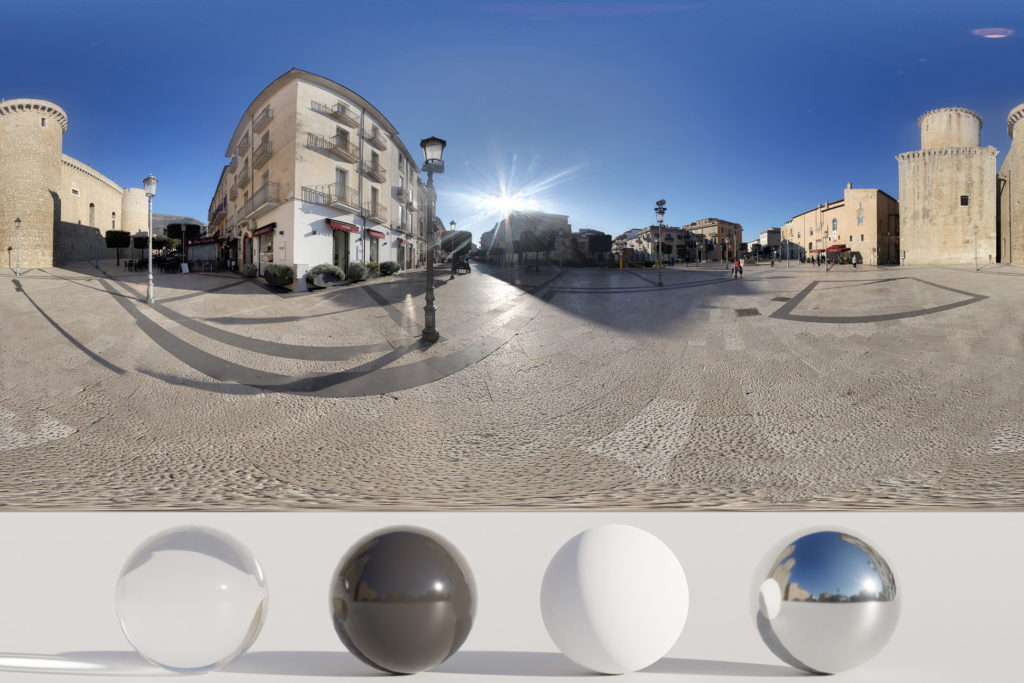 Download an Awesome HDRi Castle, square and sun