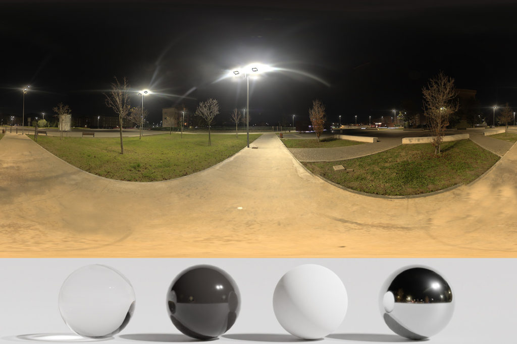 Download an Awesome HDRi Night, lights and buildings