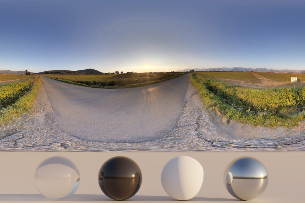 HDRi – Countryside, street and sky