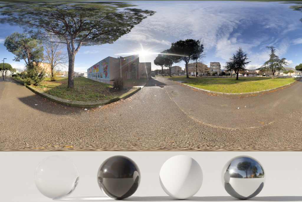 Download an Awesome HDRi Buildings, Trees and Street Art