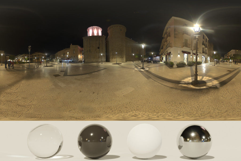Download an Awesome HDRi Night, square and castle