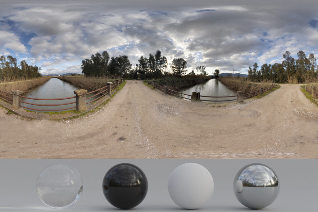 Download an Awesome HDRi Landscape, River and Clouds