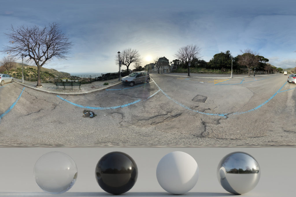 Download an Awesome HDRi Parking, Landscape and Sunset