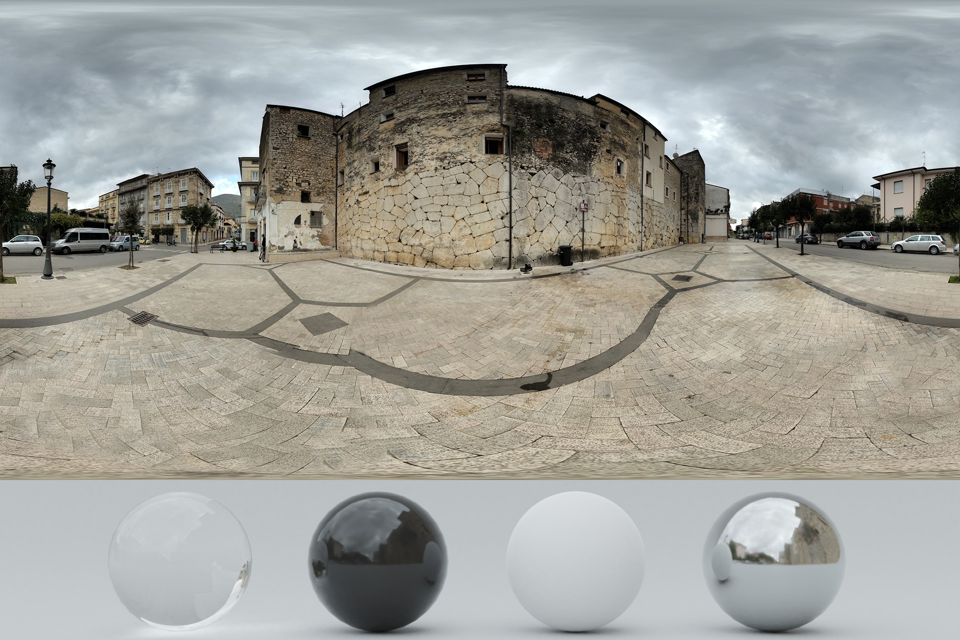 HDRi – Cloudy and Old Buildings