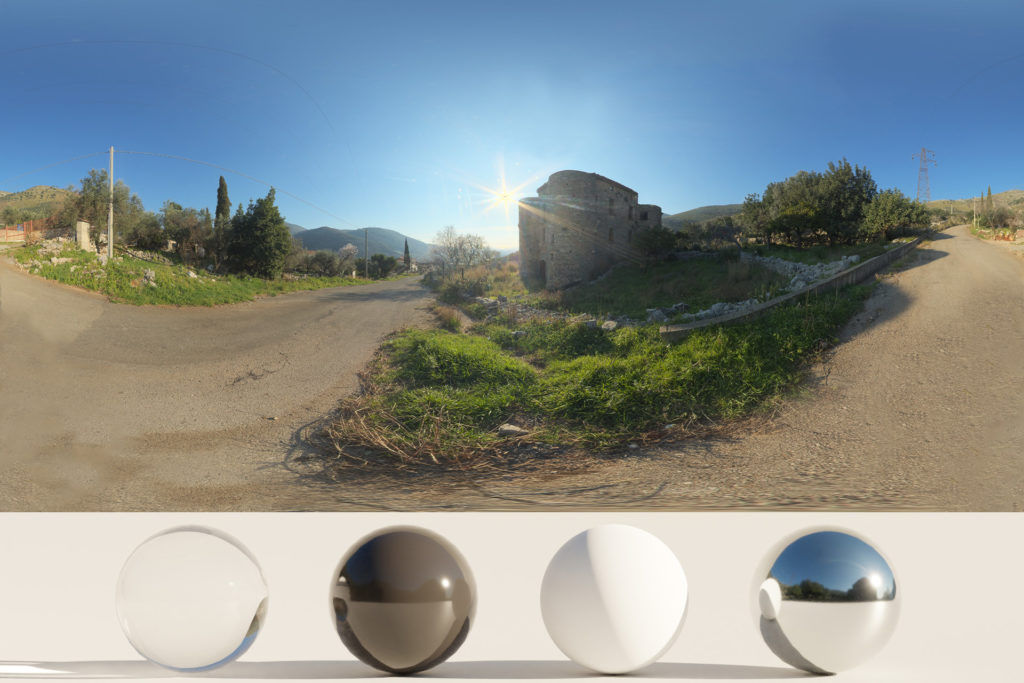 Download an Awesome HDRi Castle, Road and Nature
