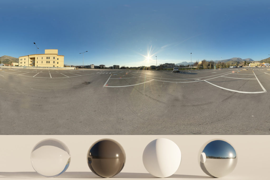 Download an Awesome HDRi Parking and Sky