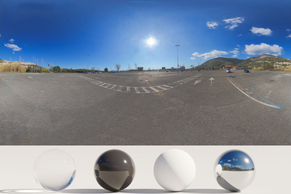 Download an Awesome HDRi Parking, Mountains and Sun