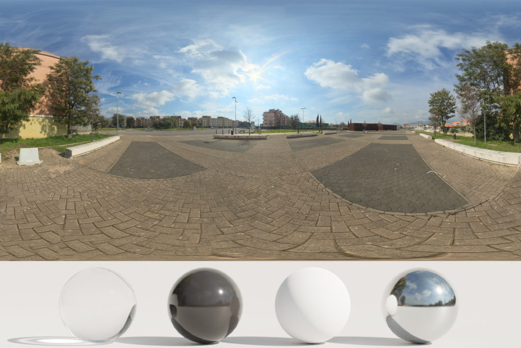 Download an Awesome HDRi Clouds and Buildings