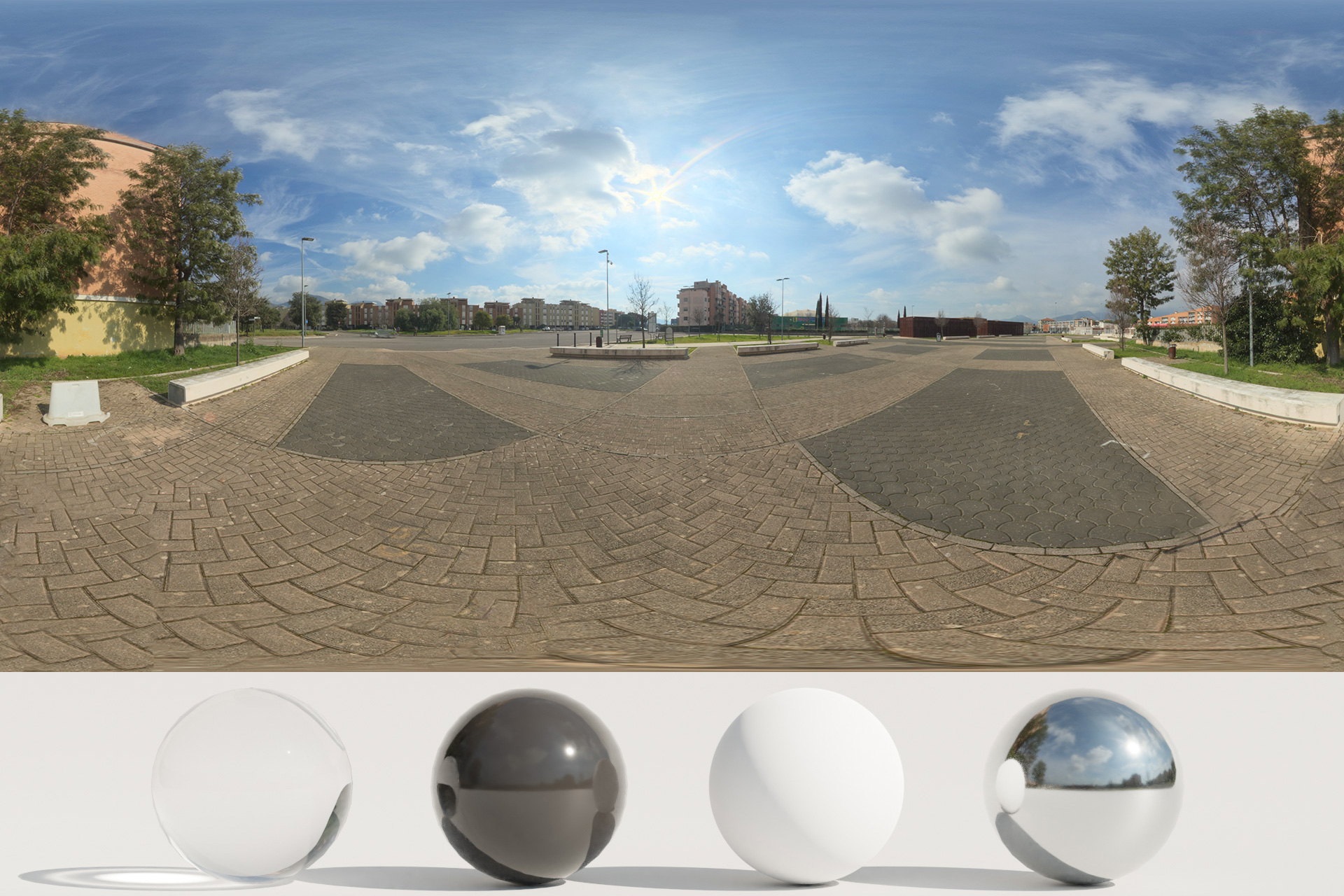 HDRi – Clouds and Buildings