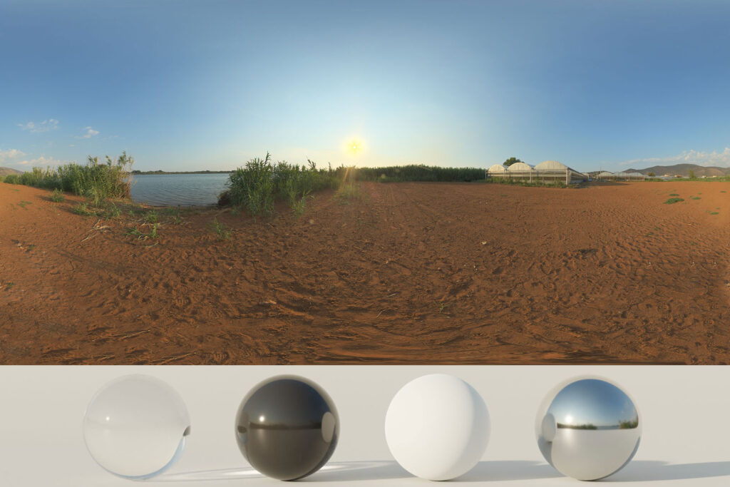 Download an Awesome HDRi Terrain And Greenhouses