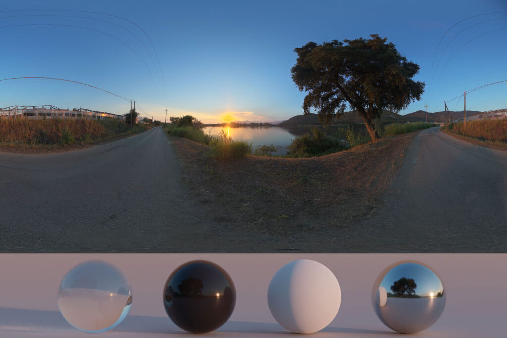 Download an Awesome HDRi Road and Lake