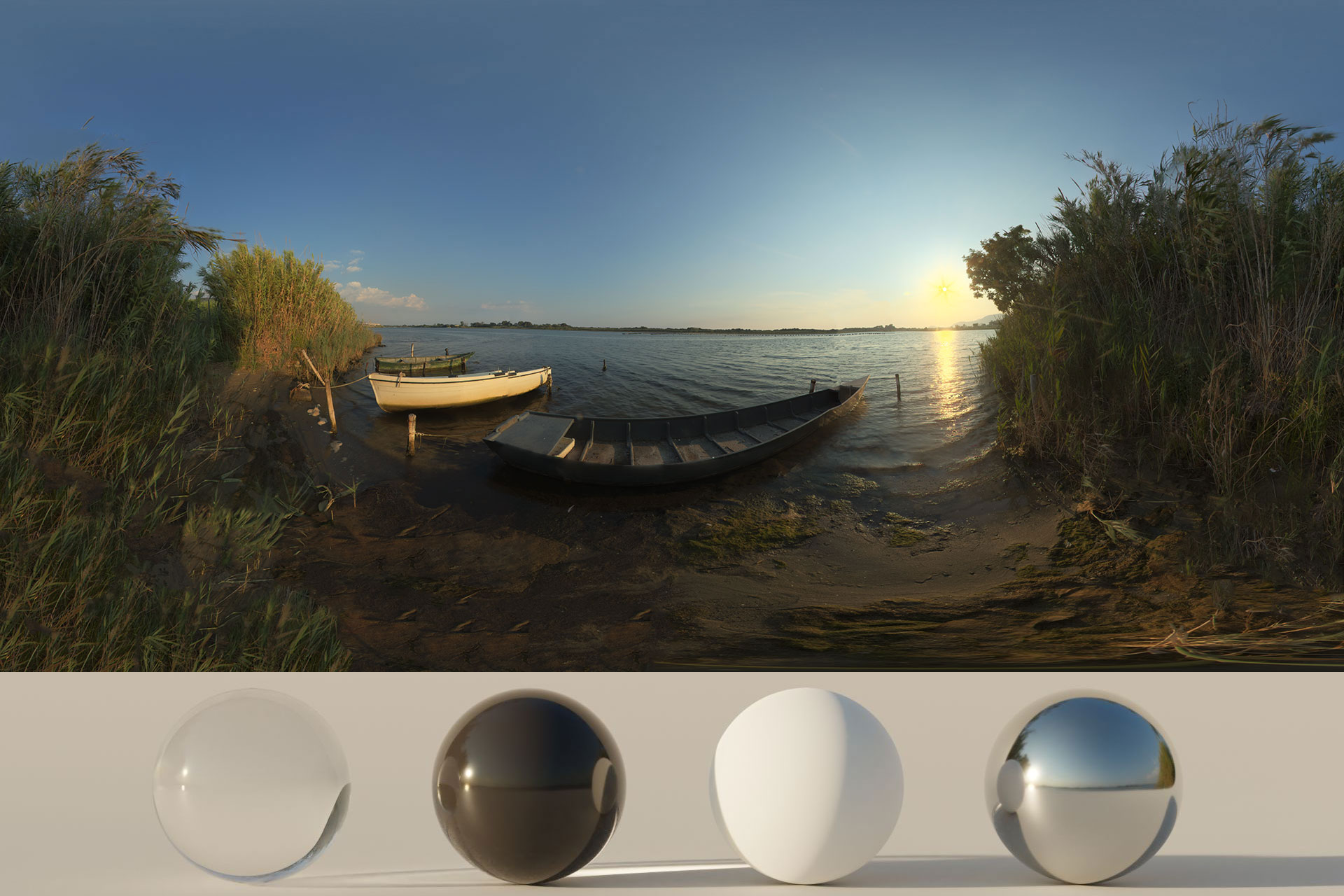 Download an Awesome HDRi Lake And Boats