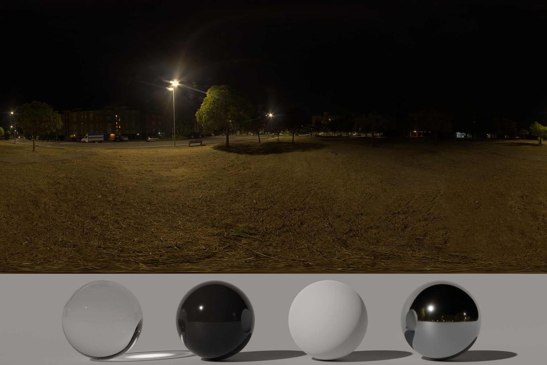 HDRi – Buildings, Trees And Night