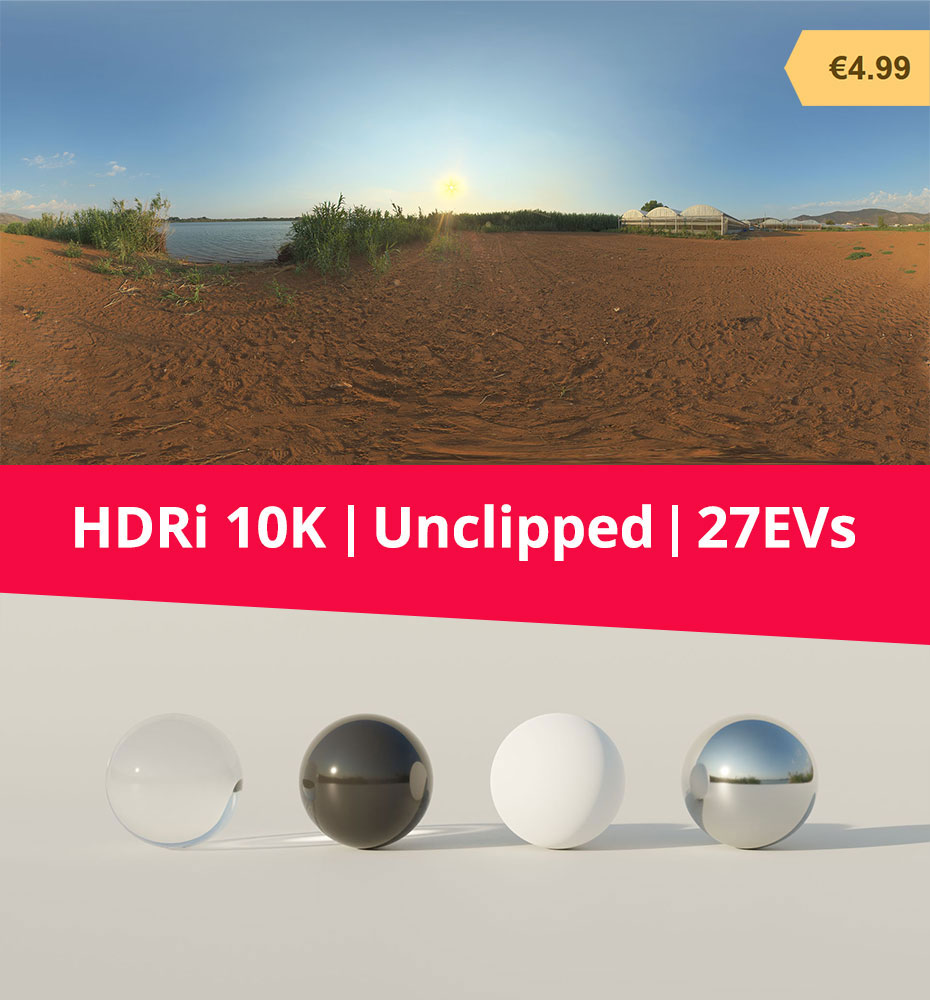 HDRi Terrain and Greenhouses